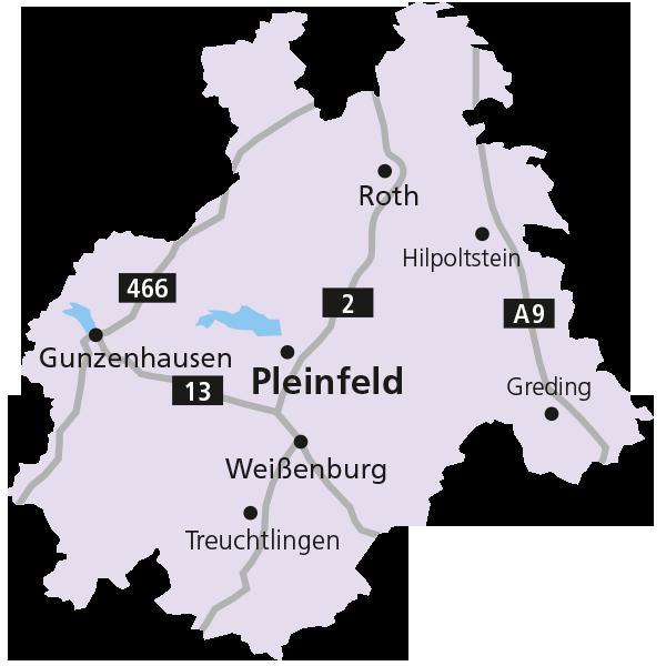 Versorgungsgebiet Landkreise Gunzenhausen und Roth